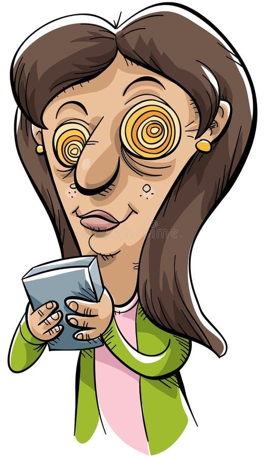 Texting pazzesco royalty illustrazione gratis
