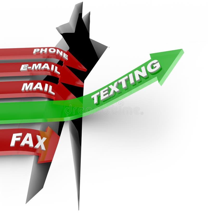 Texting slaat Andere Vormen van Mededeling royalty-vrije illustratie