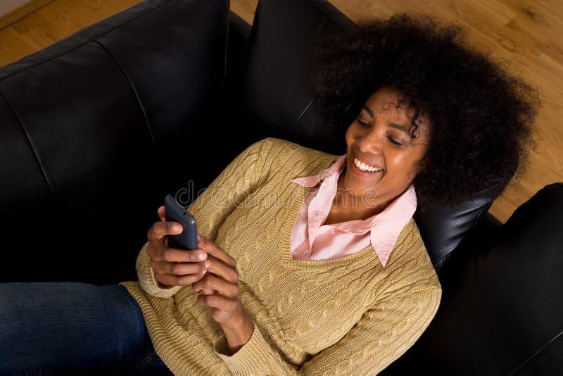 Textingsvrienden stock fotografie