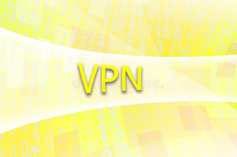 Textinskriften VPN är skriftlig på ett semitransparent fält s arkivbilder