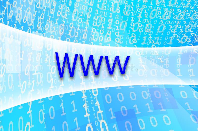 Textinskriften WWW är skriftlig på ett semitransparent fält s royaltyfria foton