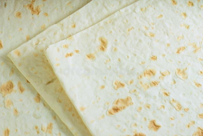 Textire di Lavash Pane armeno sottile, flatbread del grano fotografia stock libera da diritti