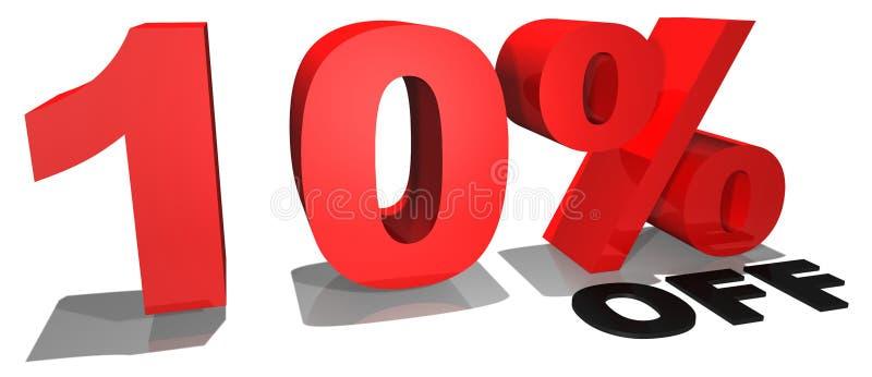 Texto 10% da promoção de venda fora ilustração do vetor