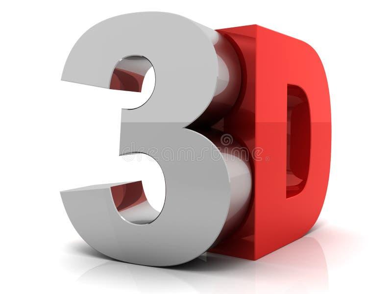 texto 3D stock de ilustración