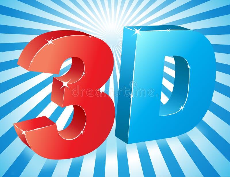 texto 3D ilustração do vetor