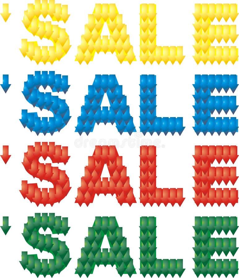 Texto 4 das vendas em 1 ilustração do vetor