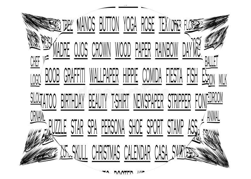 Texto ilustração do vetor