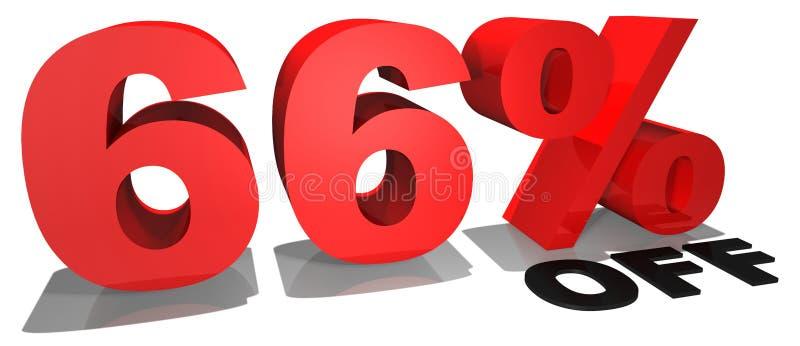 Texto 66% da promoção de venda fora ilustração royalty free