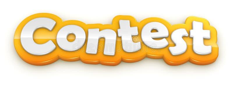 Texto amarillo de la palabra de la competencia en el fondo blanco ilustración del vector