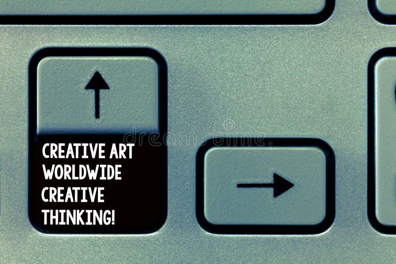 Texto Art Worldwide Creative Thinking creativo de la escritura de la palabra Concepto del negocio para el diseño moderno global d imagen de archivo