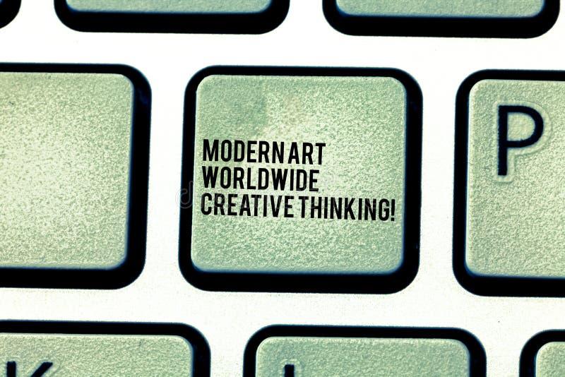 Texto Art Worldwide Creative Thinking moderno de la escritura Concepto que significa llave de teclado artística de las expresione fotos de archivo