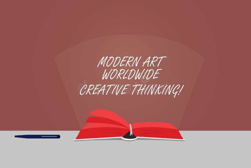 Texto Art Worldwide Creative Thinking moderno de la escritura de la palabra El concepto del negocio para las expresiones artístic imagen de archivo
