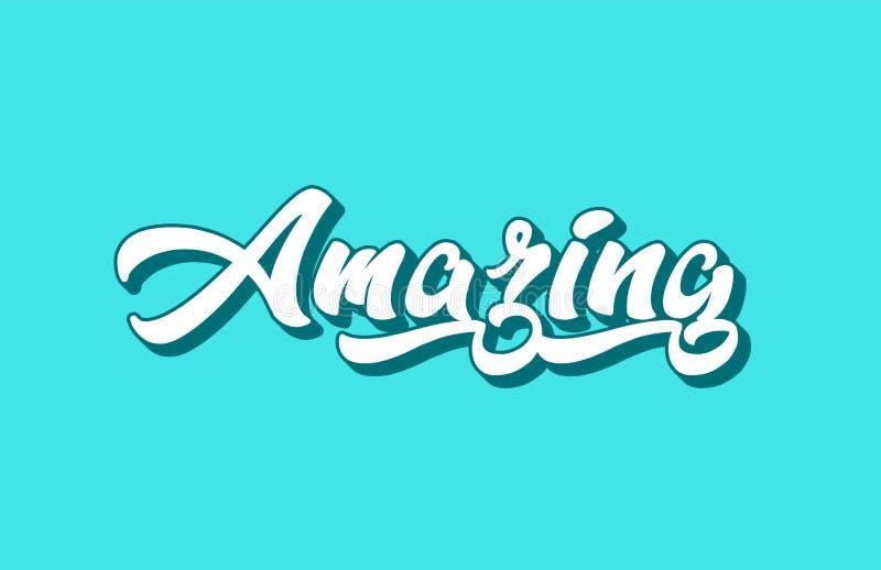 texto asombroso de la palabra escrita de la mano para el diseño de la tipografía stock de ilustración