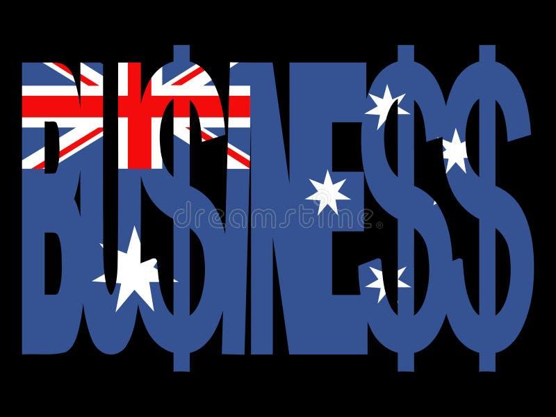 Texto australiano do negócio ilustração do vetor