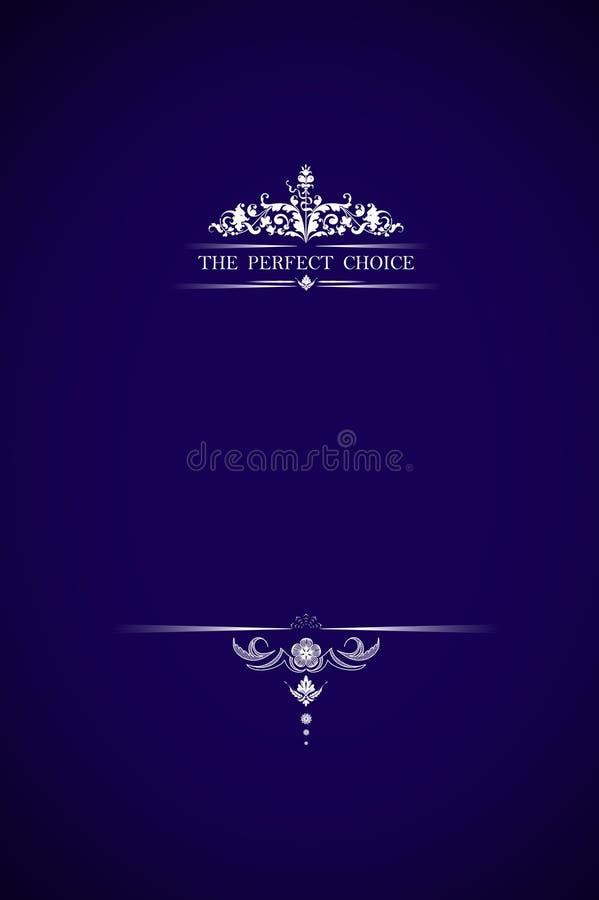 Texto bem escolhido perfeito na violeta fotografia de stock royalty free