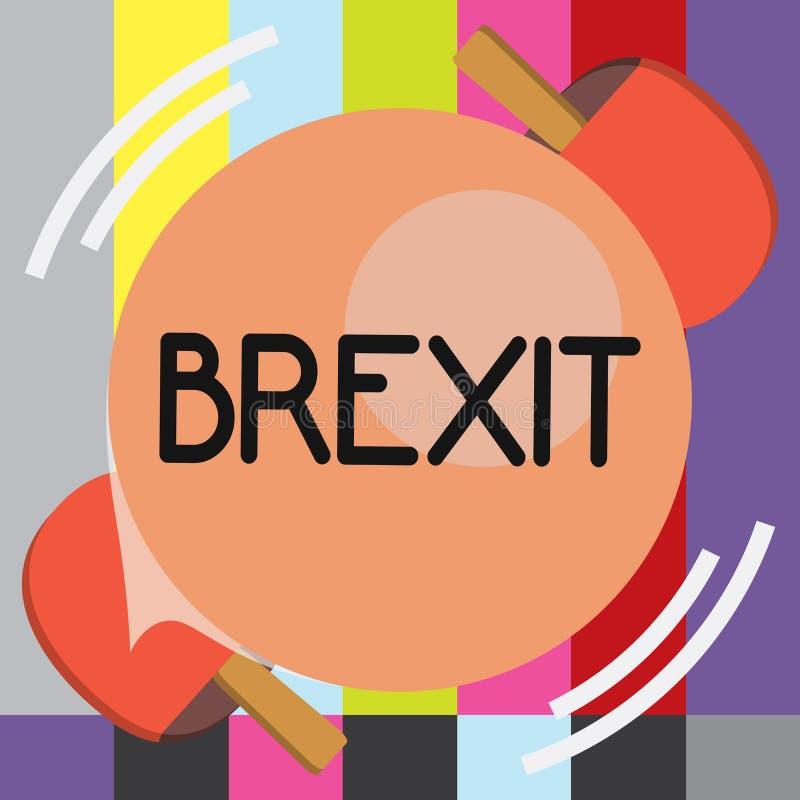 Texto Brexit da escrita da palavra Conceito do negócio para a partida potencial do termo de Reino Unido da União Europeia ilustração do vetor