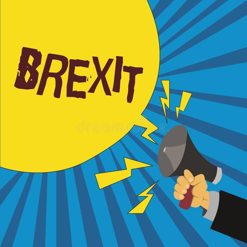 Texto Brexit da escrita da palavra Conceito do negócio para a partida potencial do termo de Reino Unido da União Europeia ilustração royalty free