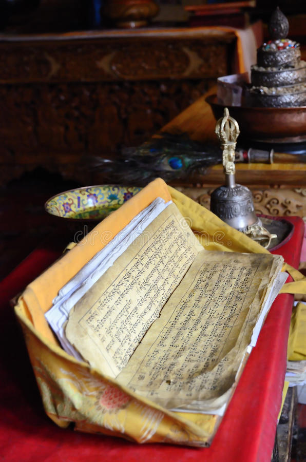 Texto budista foto de archivo