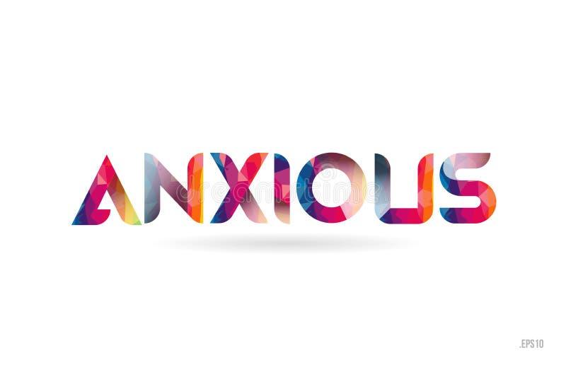 texto coloreado ansioso de la palabra del arco iris conveniente para el diseño del logotipo libre illustration