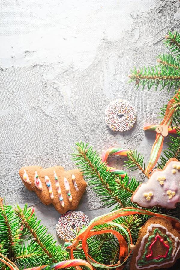 Texto colorido del lugar de los dulces de las decoraciones del fondo festivo fotos de archivo libres de regalías