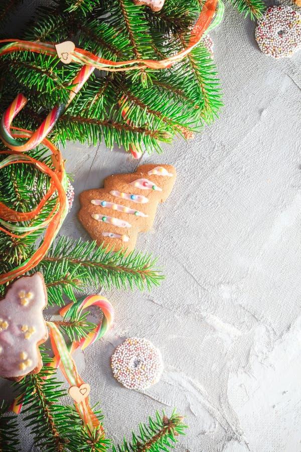 Texto colorido del lugar de los dulces de las decoraciones del fondo festivo imágenes de archivo libres de regalías