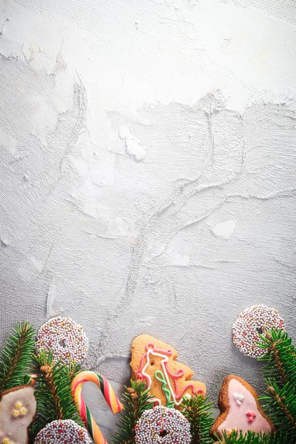 Texto colorido del lugar de los dulces de las decoraciones del fondo festivo foto de archivo