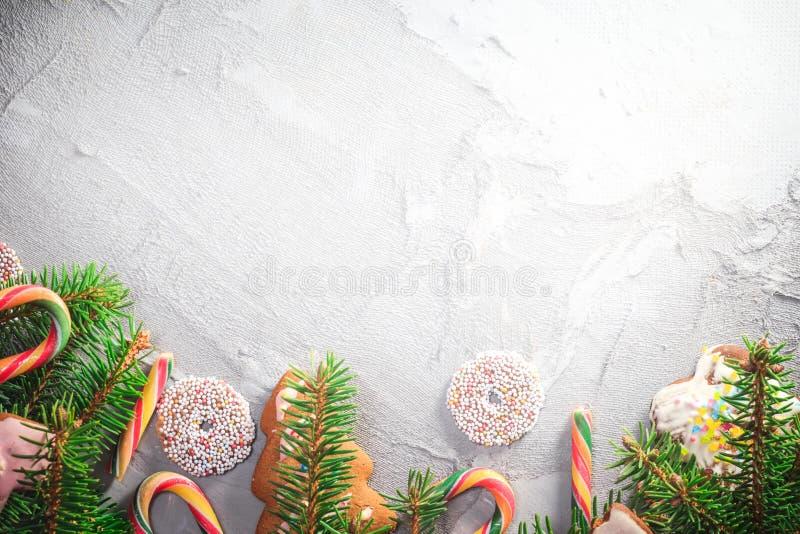 Texto colorido del lugar de los dulces de las decoraciones del fondo festivo imagenes de archivo