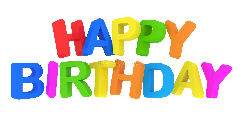 Aniversario De Texto: Texto Colorido Do Feliz Aniversario No Fundo Branco