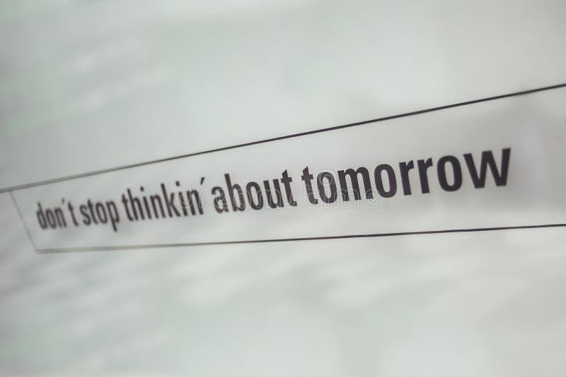 Texto comercial impreso en el vidrio imagen de archivo libre de regalías