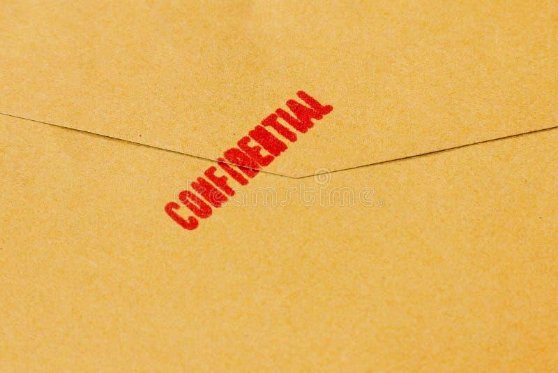 Texto confidencial fotografía de archivo libre de regalías