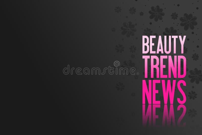 Texto cor-de-rosa para anunciar - apresentação do produto - a beleza Backgr ilustração do vetor