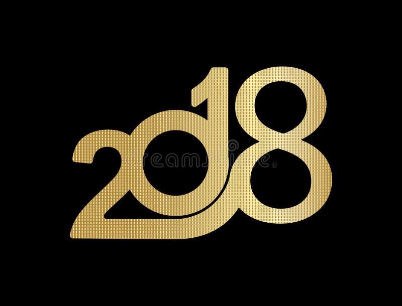 Texto creativo 2018 stock de ilustración