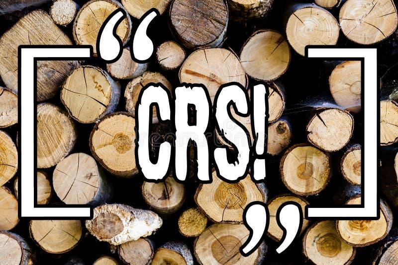 Texto CRS de la escritura de la palabra Concepto del negocio para Comanalysis que divulga el estándar para compartir el fondo de  imagen de archivo