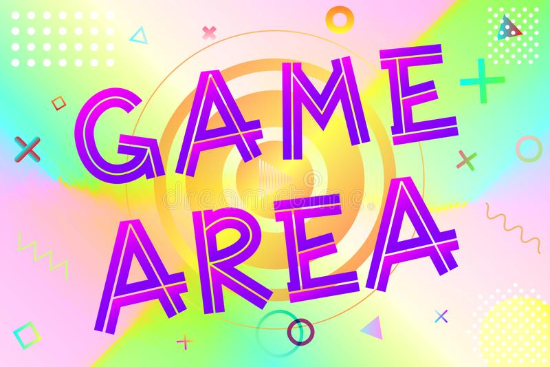 Texto da área de jogo ilustração royalty free
