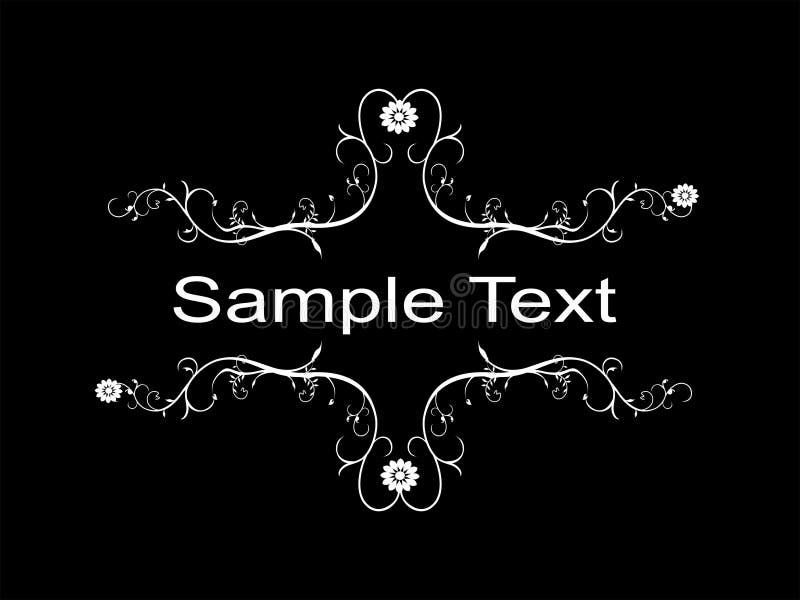 Texto da amostra ilustração stock