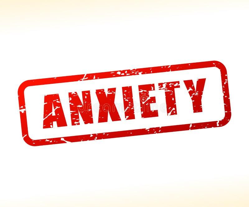 Texto da ansiedade protegido ilustração do vetor