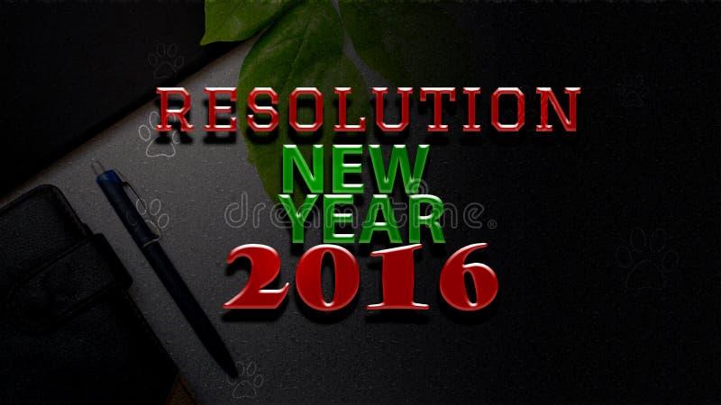 Texto 2016 da definição do ano novo ilustração do vetor