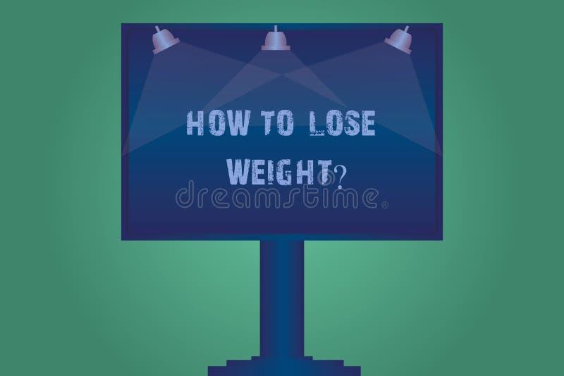 Texto da escrita como perder Weightquestion As estratégias do significado do conceito para conseguir o ajustador parar de ser lâm ilustração royalty free