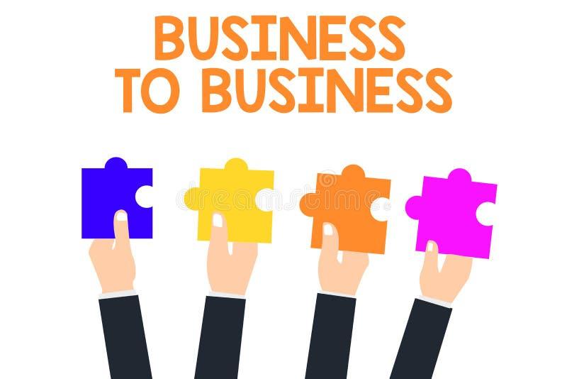 Texto da escrita interempresarial Conceito que significa uma transação comercial entre dois negócios ilustração stock
