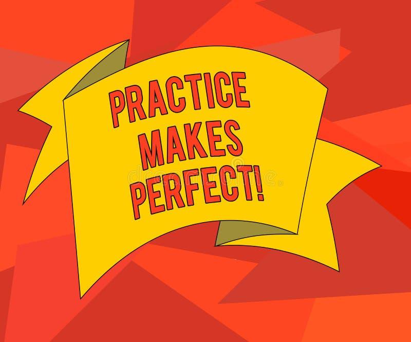 Texto da escrita da palavra Errando se aprende O conceito do negócio para o exercício regular da habilidade a tornar-se perita ne ilustração stock