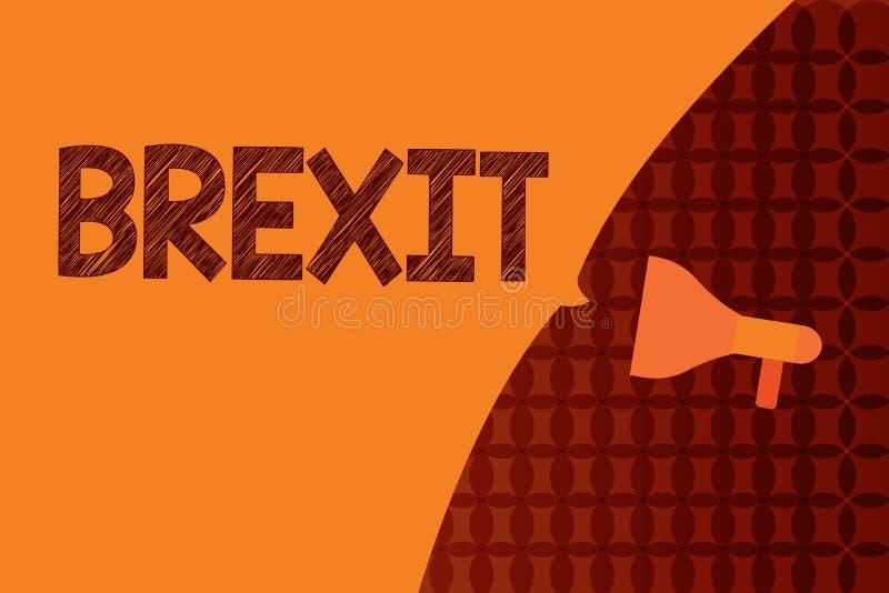 Texto da escrita que escreve Brexit Partida potencial do termo do significado do conceito de Reino Unido da União Europeia ilustração do vetor
