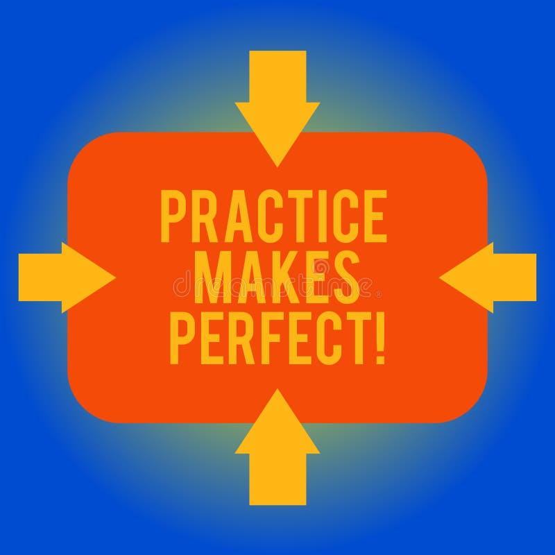 Texto da escrita que escreve Errando se aprende Exercício regular do significado do conceito da habilidade a tornar-se perita nel ilustração stock