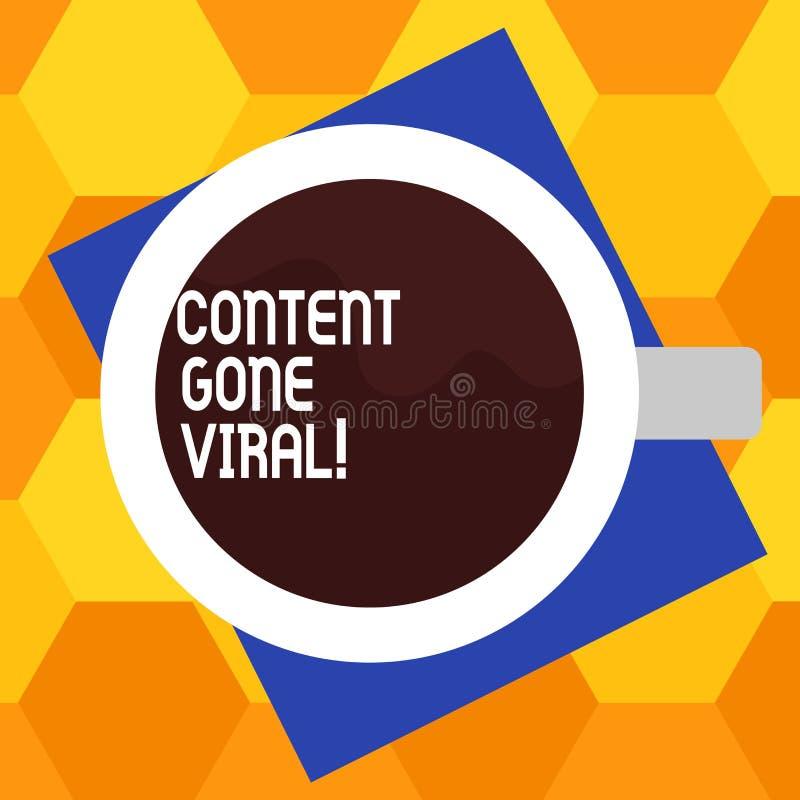 Texto da escrita que escreve o índice ido viral Relação video da imagem do significado do conceito que espalha rapidamente atravé ilustração stock