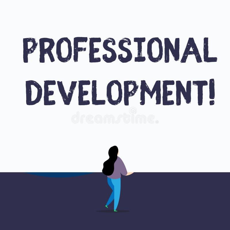 Texto da escrita que escreve o desenvolvimento profissional Significado do conceito que aprende ganhar para trás ou manter creden ilustração do vetor