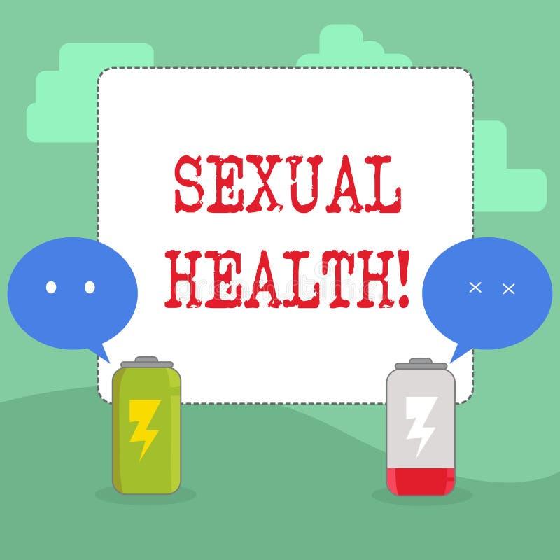 Texto da escrita que escreve a saúde sexual Conceito que significa o cuidado saudável do sexo dos hábitos da proteção do uso da p ilustração royalty free