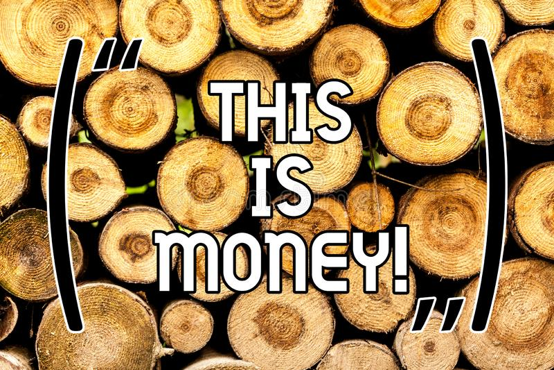 Texto da escrita Tempo é dinheiro O significado do conceito melhora para fazer coisas o mais rapidamente possível não atrasa de m fotografia de stock royalty free