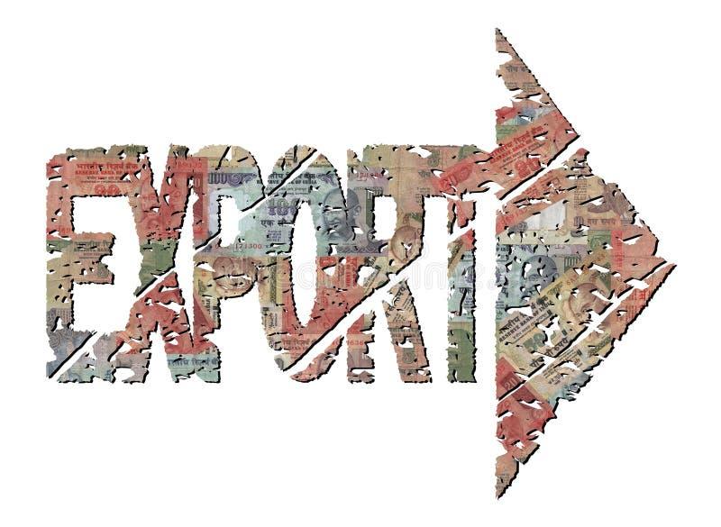 Texto da exportação com rupia ilustração stock