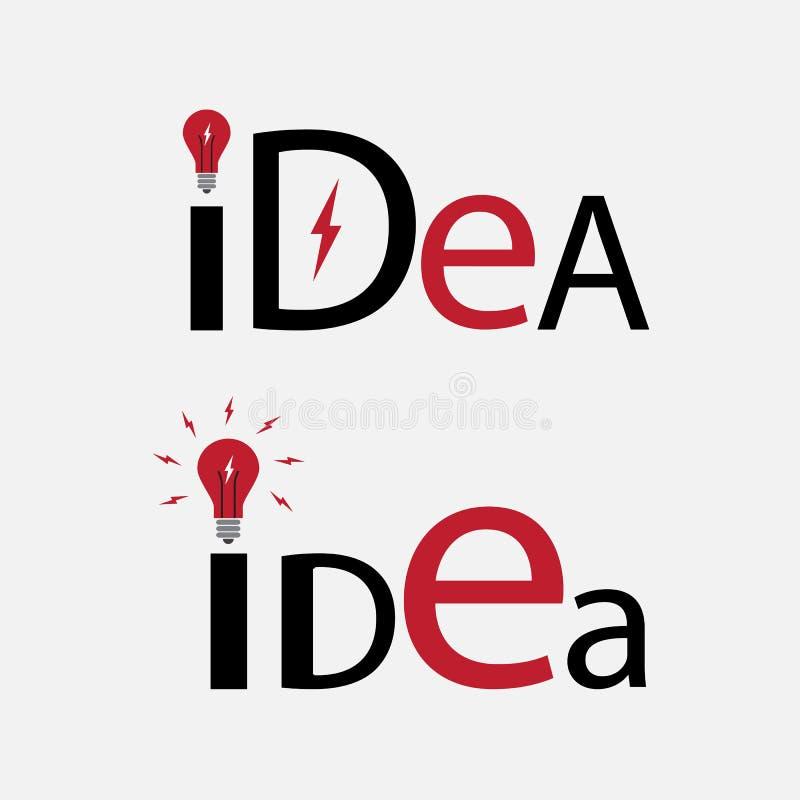 Texto da ideia Elemento para o logotipo ilustração do vetor