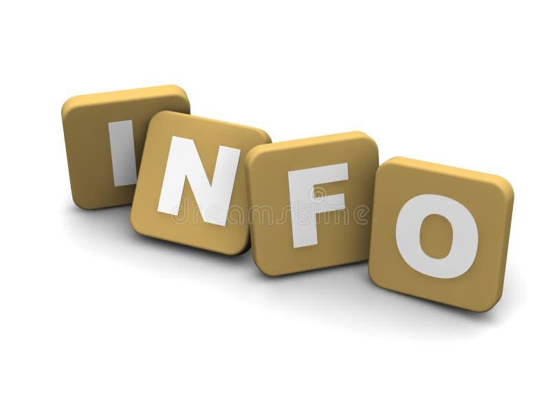 Texto da informação ilustração royalty free