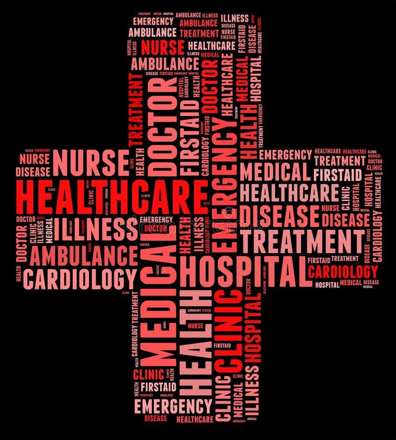 Texto da informação da emergência ilustração stock